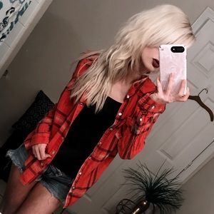 🌲 Red Lumber Jack BF Flannel Shirt